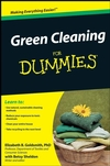 Green Cleaning For Dummies (0470446269) cover image