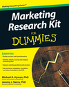 Marketing Research Kit For Dummies (0470632569) cover image