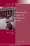 Advancing the Integrity of Professional Practice: New Directions for Student Services, Number 135 (111815116X) cover image