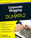 Corporate Blogging For Dummies (0470901470) cover image