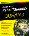 Canon EOS Rebel T3i / 600D For Dummies (1118121570) cover image