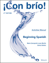 ¡Con brío! Beginning Spanish Activities Manual, 4th Edition (1119353270) cover image