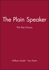 The Plain Speaker: The Key Essays (0631210571) cover image