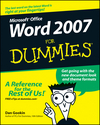 Word 2007 For Dummies (1118043871) cover image