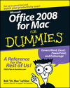 Office 2008 for Mac For Dummies (1118052471) cover image
