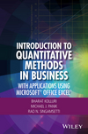 Introduction to Quantitative Methods in Business: With Applications Using Microsoft Office Excel (1119220971) cover image