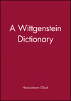 A Wittgenstein Dictionary (0631185372) cover image