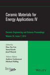 Ceramic Materials for Energy Applications IV: Ceramic Engineering and Science Proceedings, Volume 35 Issue 7 (1119040272) cover image