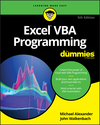 Excel VBA Programming For Dummies, 5th Edition (1119518172) cover image