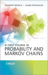 thumbnail image: A First Course in Probability and Markov Chains