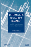 Deterministic Operations Research: Models and Methods in Linear Optimization (EHEP002372) cover image