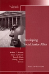 Developing Social Justice Allies: New Directions for Student Services, Number 110 (0787980773) cover image