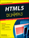 HTML5 For Dummies Quick Reference (1118078373) cover image