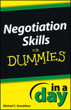 Negotiating Skills In a Day For Dummies (1118491173) cover image