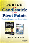 Person on Candlesticks and Pivot Points: Trade Setups and Triggers (Book/DVD Set) (1118626273) cover image