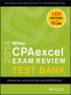 Wiley CPAexcel Exam Review 2014 Test Bank, Financial Accounting and Reporting (1118734173) cover image