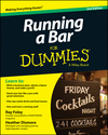 Running a Bar For Dummies, 2nd Edition (1118880773) cover image