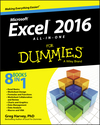 Excel 2016 All-in-One For Dummies (1119077273) cover image