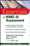 Essentials of WMS-III Assessment  (0471200174) cover image