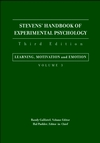 Stevens' Handbook of Experimental Psychology, Volume 3, Learning, Motivation, and Emotion, 3rd Edition (0471380474) cover image