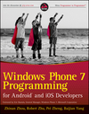 Windows Phone 7 Programming for Android and iOS Developers (1118021975) cover image