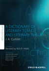 A Dictionary of Literary Terms and Literary Theory, 5th Edition (1444333275) cover image