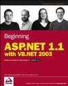 Beginning ASP.NET 1.1 with VB.NET 2003 (0764557076) cover image