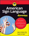 American Sign Language For Dummies with Online Videos, 3rd Edition (1119286077) cover image