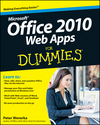 Office 2010 Web Apps For Dummies (0470631678) cover image