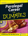 Paralegal Career For Dummies (1118052978) cover image