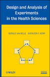 thumbnail image: Design and Analysis of Experiments in the Health Sciences