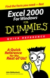 Excel 2000 for Windows For Dummies: Quick Reference  (0764504479) cover image