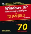 Windows XP Timesaving Techniques For Dummies, 2nd Edition (0764596179) cover image