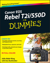 Canon EOS Rebel T2i / 550D For Dummies (0470901381) cover image