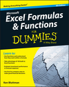 Excel Formulas and Functions For Dummies, 4th Edition (1119076781) cover image