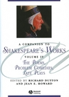 A Companion to Shakespeare's Works, Volumr IV: The Poems, Problem Comedies, Late Plays (1405136081) cover image