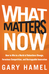 What Matters Now: How to Win in a World of Relentless Change, Ferocious Competition, and Unstoppable Innovation (1118219082) cover image