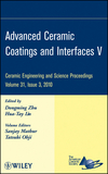 Advanced Ceramic Coatings and Interfaces V: Ceramic Engineering and Science Proceedings, Volume 31, Issue 3 (0470594683) cover image