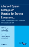 Advanced Ceramic Coatings and Materials for Extreme Environments, Volume 32, Issue 3 (1118059883) cover image