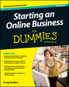 Starting an Online Business For Dummies, 7th Edition (1118607783) cover image