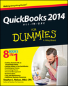QuickBooks 2014 All-in-One For Dummies (1118720083) cover image