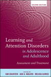 Learning and Attention Disorders in Adolescence and Adulthood: Assessment and Treatment, 2nd Edition (0470505184) cover image