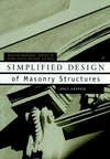 Simplified Design of Masonry Structures (0471179884) cover image