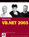 Beginning VB.NET 2003 (0764556584) cover image