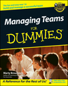 Managing Teams For Dummies (0764554085) cover image