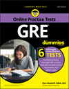 GRE For Dummies with Online Practice, 9th Edition (1119550785) cover image