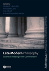 Late Modern Philosophy: Essential Readings with Commentary (1405146885) cover image