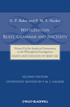 Wittgenstein: Rules, Grammar and Necessity: Volume 2 of an Analytical Commentary on the Philosophical Investigations, Essays and Exegesis §§185-242, 2nd Edition (1405184086) cover image