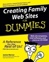 Creating Family Web Sites For Dummies (0764589687) cover image