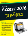 Access 2016 For Dummies (1119083087) cover image